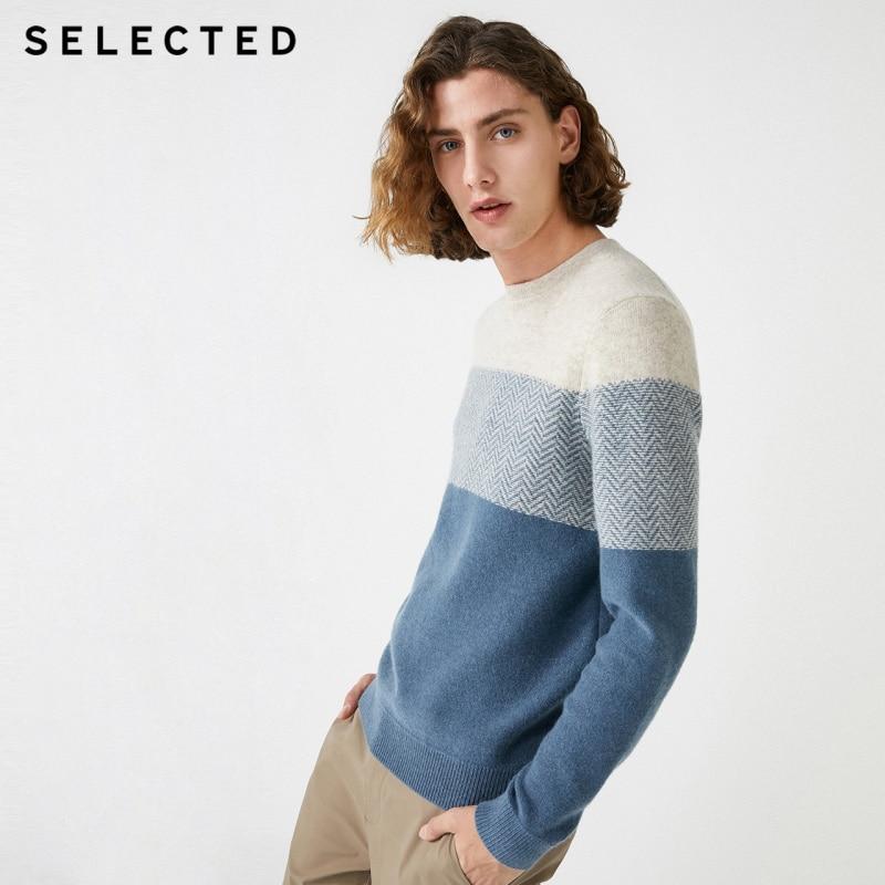 Wybrane nowe męskie wełniane szwy trend wokół szyi sweter S  419425501 w Pulowery od Odzież męska na  Grupa 1