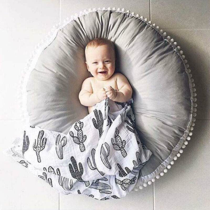 High Quality Cotton Baby Crawling Blanket Thickening Children Round Cushion Sofa Pad Carpet Crawl Pad Blanket