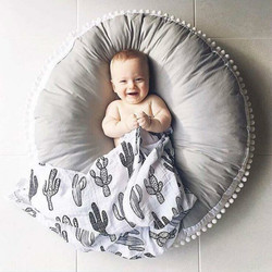 High Quality Cotton Baby Crawling Blanket Thickening Children Round Cushion Sofa Pad Carpet Crawl Pad Blanket