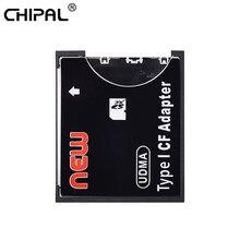 Capacidade de apoio do leitor de cartão do conversor de cartão do tipo compacto padrão do flash de sdxc sdhc do adaptador de alta velocidade microsd de chipal para cf
