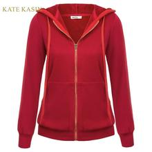 Kate Kasin 2019 Autumn Winter Fleece Hoodies Jacke
