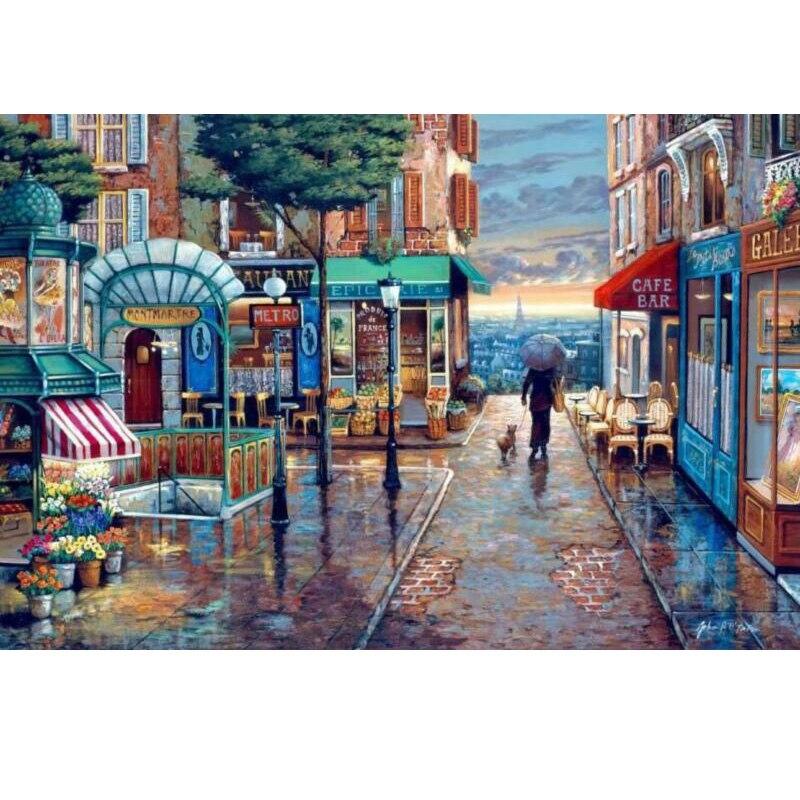 Quebra-cabeças de imagem quente 1000 peças difícil noctilúcido adultos puzzle cidade romântica brinquedos educativos para adultos crianças