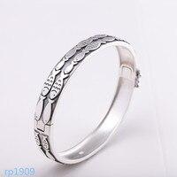 KJJEAXCMY boutique jewelry Matte craft jewelry foot silver 990 silver jewelry women's chaise longue fish bracelet