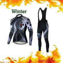 Bicycle MTB Cycling-Jersey-Set Triathlon-Uniform-Kit Road-Bike-Clothing Thermal-Fleece-Suit