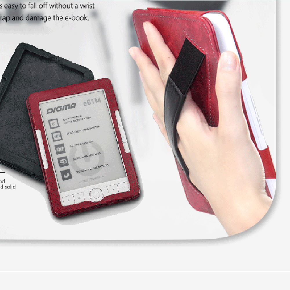 Newest Handle Case For Digma E61 R61 R60 R62 R67 E63 R63 Ereader Glove Leather Cover For Sample Reading Digma E60 Nice Pouch