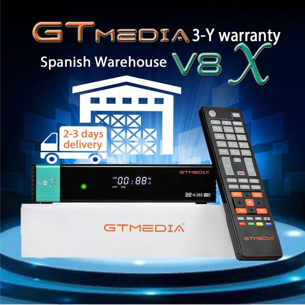 Спутниковый ресивер Gtmedia V8X Full HD DVB-S/S2/S2X с поддержкой CA PowerVu Bisskey H.265 Встроенный Wi-Fi V8 Nova обновление без приложения