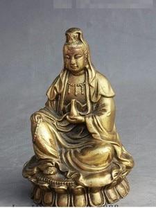 Image 1 - YM 308 Vase bouddhiste chinois en laiton