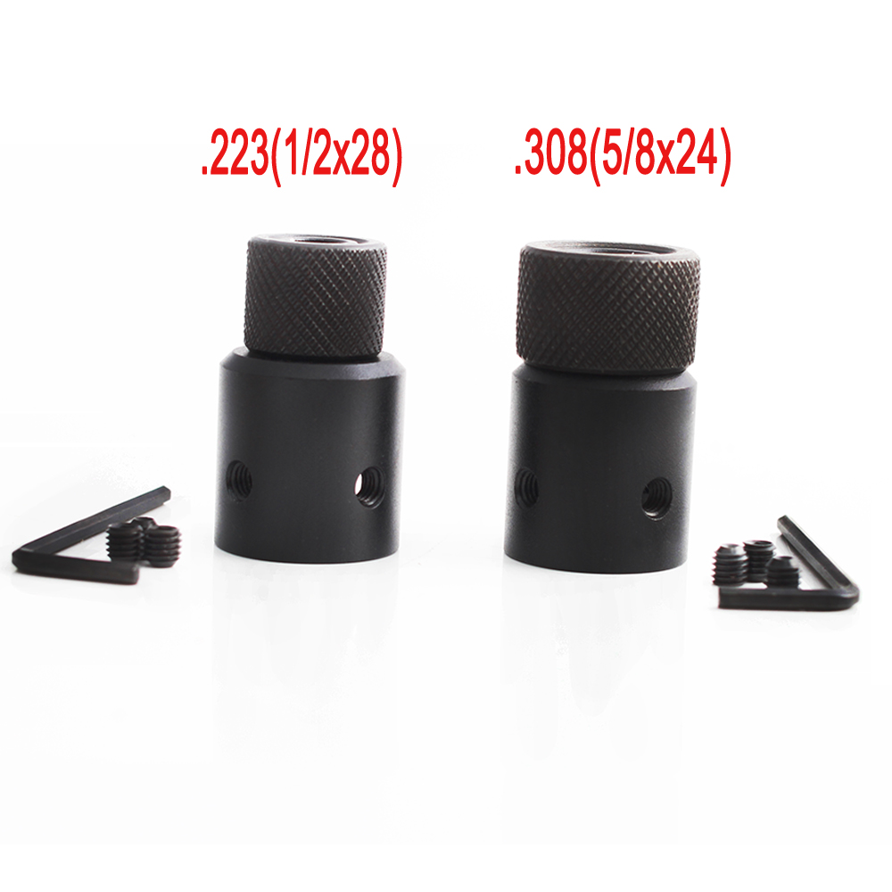 Magorui ruger 1022 10/22 adaptador de freio de focinho protetor de rosca de extremidade de tambor 1/2x28 5/8x24 combo. 223 .308 compensador