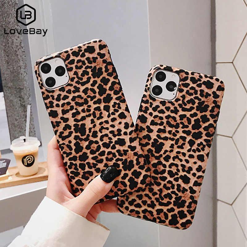 Lovebay Sang Trọng Da Báo Ốp Lưng Điện Thoại iPhone 7 Mềm IMD Ốp Lưng Silicon Dành Cho Iphone 11 Pro XS Max XR X 6 6S 7 8 Plus