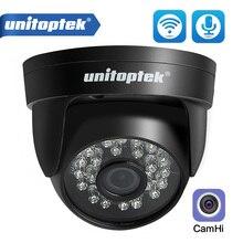 Câmera dome de segurança sem fio onvif, hd 1080p wi fi ip áudio, cctv, ir 20m, visão noturna, cartão tf aplicativo de slot camhi