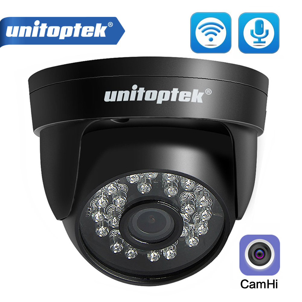 HD 720P 1080P WIFI IP Camera Audio Wireless Onvif CCTV Security Dome Camera IR 20m Night Vision TF Card Slot APP CamHi image