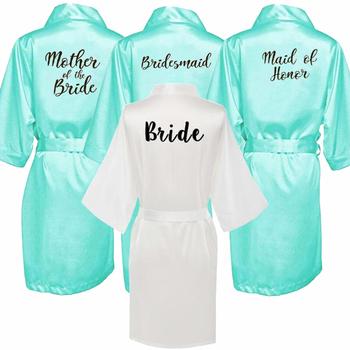 Seksowna zielona szata kimono bridal piżama suknia ślubna druhna matron maid of honor siostra matka panny młodej szaty tanie i dobre opinie VLENATLNO Faux jedwabiu summer Polyester Stałe WOMEN Powyżej kolana Mini JH642 Połowa Satyna