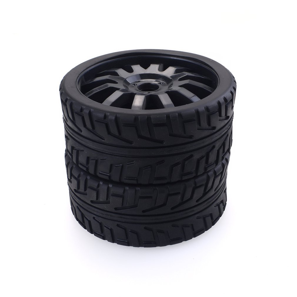 2PCS 1/8 RC Car Rubber Tyres Plastic Wheels For Redcat Team Losi VRX HPI Kyosho HSP Carson Hobao 1/8 Buggy /On-road Car
