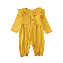 Newborn Romper Fashion Ruffle Clothes Infant Baby Boy Girl Romper Long Sleeve Jumpsuit Girls Clothes Outfits Kids Baby Clothing new arrival party girl baby romper clothes embroidery turkey pattern ruffle newborn clothes matching boy romper gpf803 115