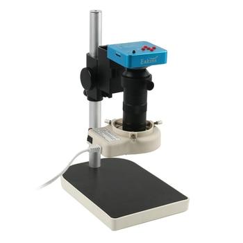 Full HD 1080P 60FPS 2K 3800W 38MP HDMI USB Industrial Electronic Digital Zoom 100X Video Microscope Camera For Lab PCB Soldering 7x 45x simul focal trinocular stereo microscope set with 16mp 1080p hdmi usb digital industrial video camera for pcb soldering
