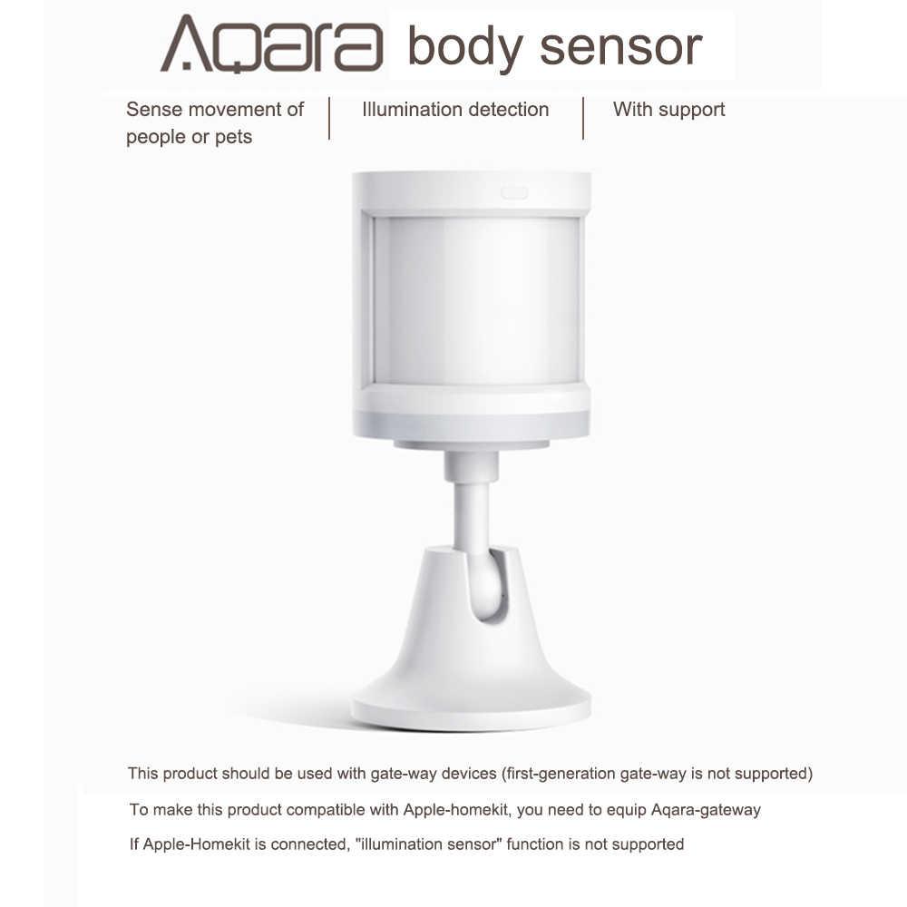 4 adet Aqara İnsan vücudu sensörü akıllı vücut hareket hareket sensörü kablosuz ZigBee bağlantı tutucu ışık ağ geçidi
