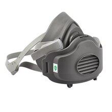 3200+20pcs Filters Half Face Dust Gas Mask KN95 Respirator Safety Protective Anti Organic Vapors PM2.5 Fog