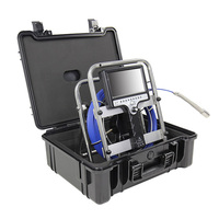 Waterproof 7inch sewer line pipeline Roller Skid TV Video camera inspection with recorder
