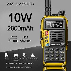 2021 BaoFeng UV-S9 Plus Powerful Walkie Talkie CB Radio Transceiver 8W/10W 10km Long Range Portable Radio For Hunt Forest City