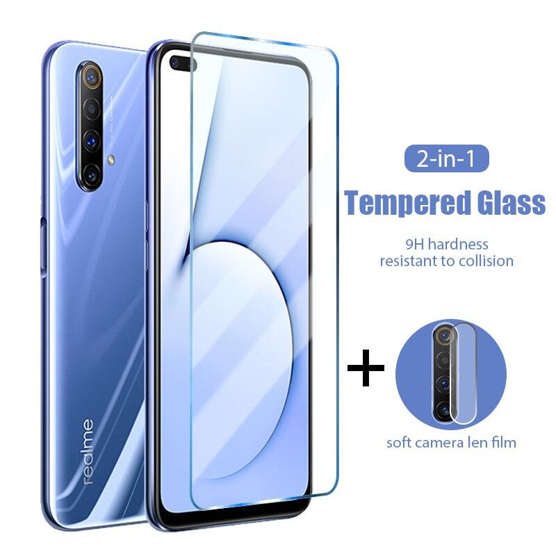 Защитное стекло для объектива задней камеры 2 в 1 для Realme 5S 5I 5 3i 3 2 Pro HD, закаленное стекло для Realme 6s 6i 6 Pro, жесткое стекло