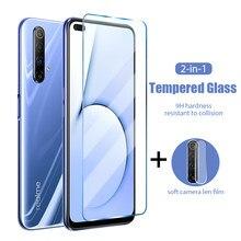 2 em 1 câmera traseira lente de vidro protetor para realme 5S 5i 5 3i 3 2 pro hd vidro temperado para realme 6s 6i 6 pro vidro duro