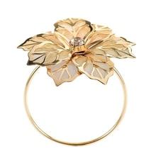 ABUI-12Pcs/набор, кольца для салфеток из сплава с цветочным дизайном, цветочные кольца для свадебных приемов, подарки для праздника, банкета, ужина, Рождественского стола, Декор