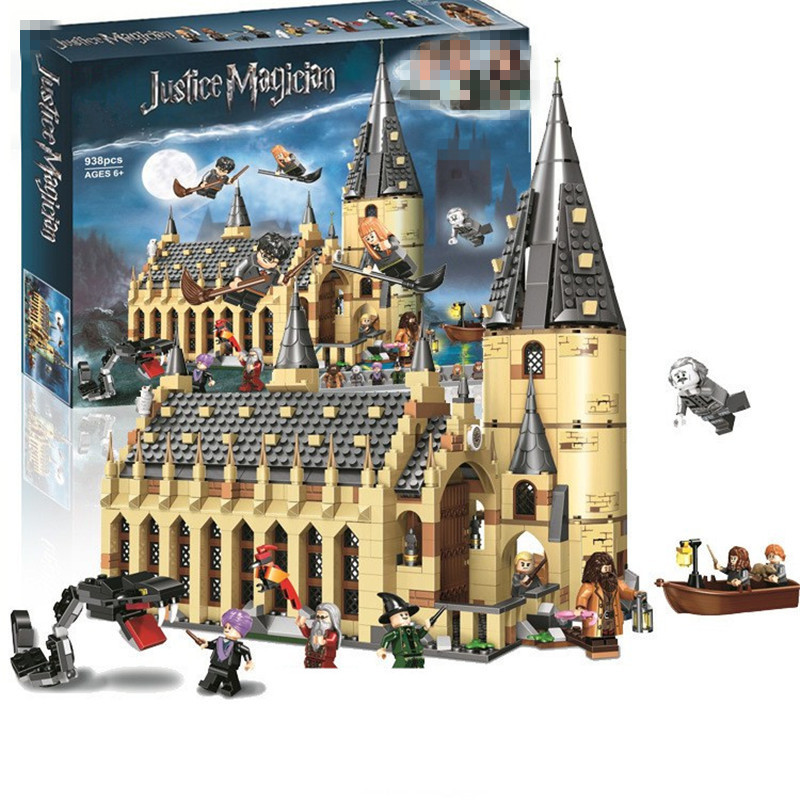 New Harri Magic Hogwartse Castle Great Hall Express Lepining 75948 75953 75954 75955 Model Building Blocks Bricks Toys Gifts