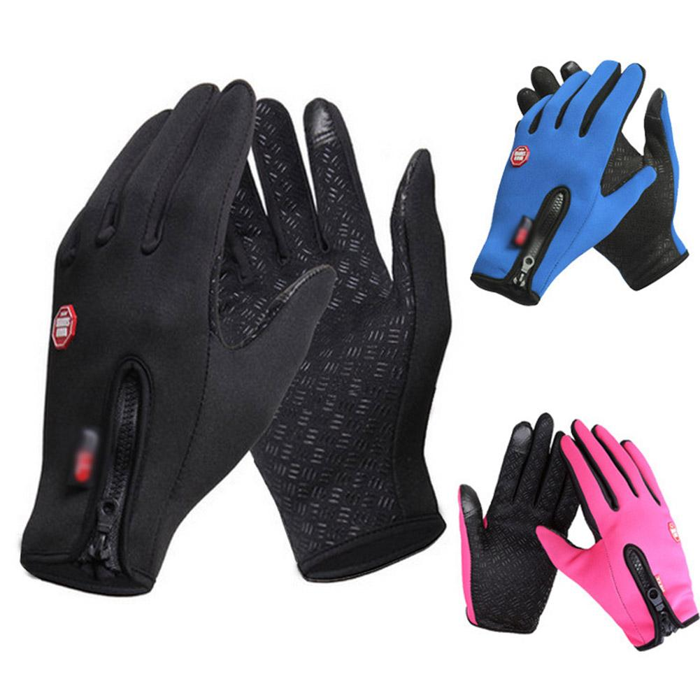 Waterproof Gloves Touch Screen Men And Women Windproof Riding Zipper Outdoor Sports Winter Warm Gloves