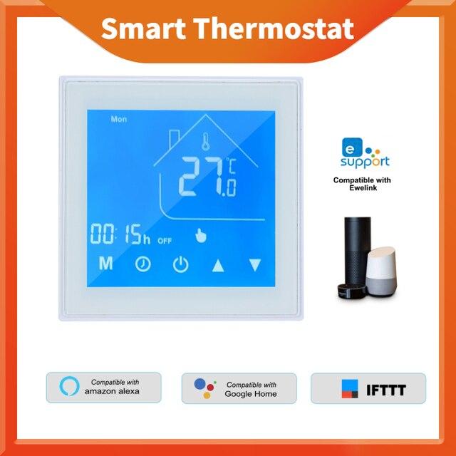 WiFi חכם תרמוסטט טמפרטורת בקר LCD תצוגת שבוע לתכנות עבור מים/גז הדוד Ewelink עבור Alexa Google בית