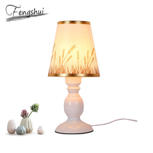 Modern LED Table Lights Lighting Bedroom Living Room Lamp Desk Cloth Shade Metal Body Indoor Decoration