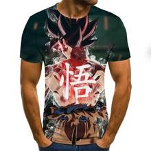 Funny Men's T-Shirt Anime Harajuku Tops 3D Graphic T-Shirt Summer Round Neck Shirt Boys Apparel Plus Size Streetwear