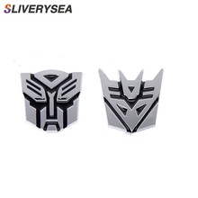 3D Metal Car Stickers Transformers For Auto Logo Window Tail Body Decoration Styling