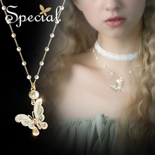 The SPECIAL New Fashion euramerican  Necklace Neck Chain Choker Lining Dream Butterfly.S2043N
