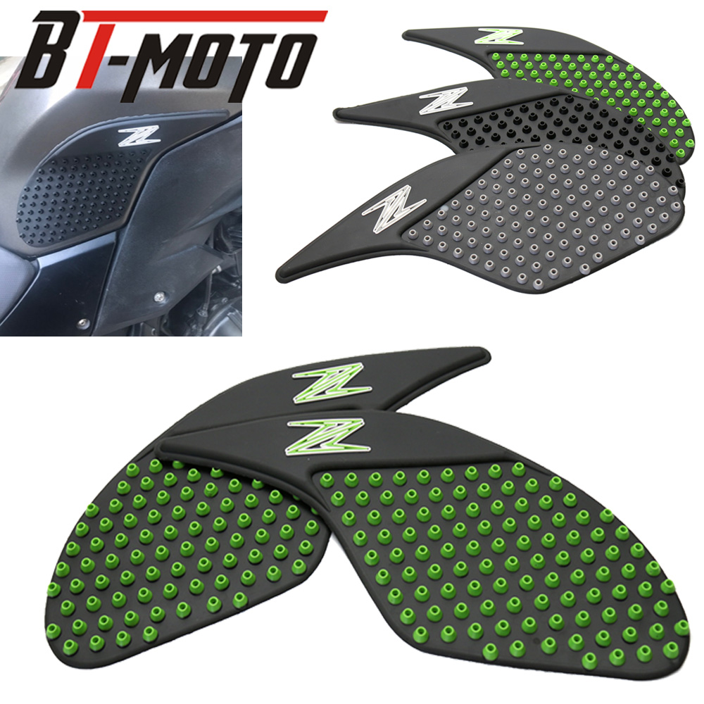 Tank Pad Protector Sticker Decal Gas Knee Grip Tank Traction Pad Side 3M For Kawasaki Z250 2013-2015 Z300 2014-2017