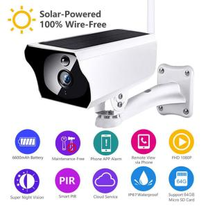 INQMEGA 1080P Solar Camera HD Wireless IP67 WiFi Security Surveillance CCTV IP Camera 850nm Infrared 2.4G Night Cam No Battery