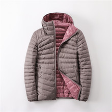 2019 New Autumn winter double Side down jacket women Casual