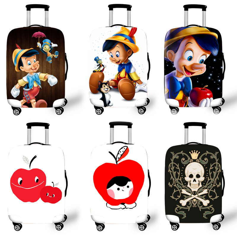 Elastic Luggage Protective Cover Case For Suitcase Protective Cover Trolley Cases Covers 3D Travel Accessories Pinocchi Pattern