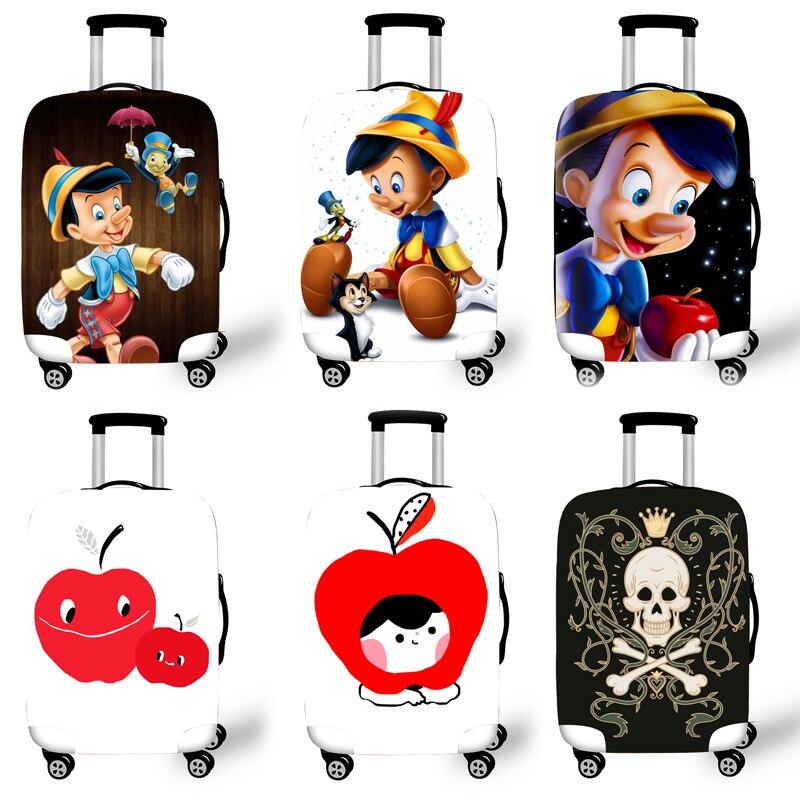 Case para Acessórios de Viagem Elástica Bagagem Capa Protetora Trolley Mala Cases Covers 3d Pinocchi Padrão