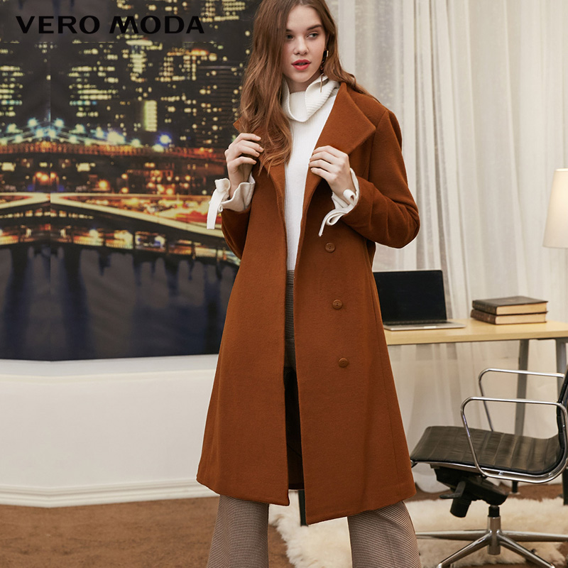 Vero Moda Women Turtleneck Wool Coat Long Jacket | 318327539