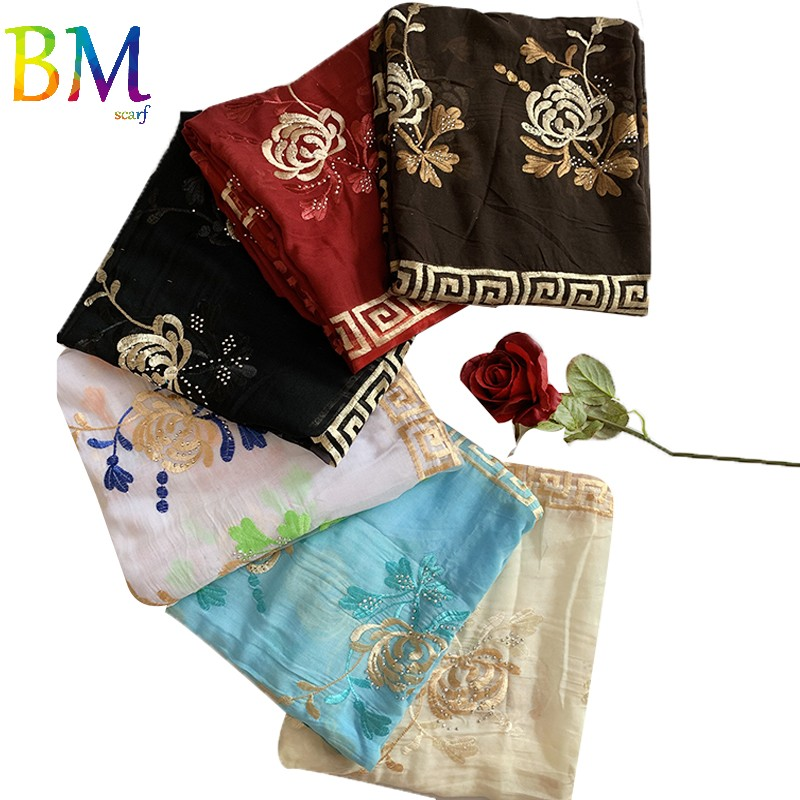 12 PIECES SCARF ON SALES WHOLESALE ORDER African Women Scarf Embroidery Design