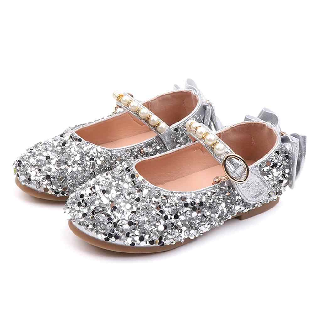Children Kids Girls Cute Children's shoes 2018 Summer new kids Crystal Bowknot Pearl Princess Dance Single Casual Shoes