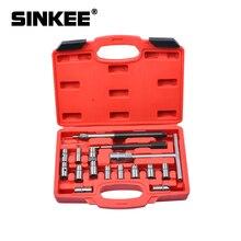 17 sztuk wtryskiwacz do czyszczenia oleju napędowego czysty węgiel Remover Seat Cutter zestaw narzędzi skrawających SK1364