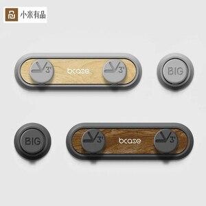 Image 1 - Intera vendita Youpin Tup2 USB di Archiviazione Cavo Wired Organizzatore di Assorbimento Magnetico Della Clip Del Supporto home Office Scrivania Organizzatore del Cavo
