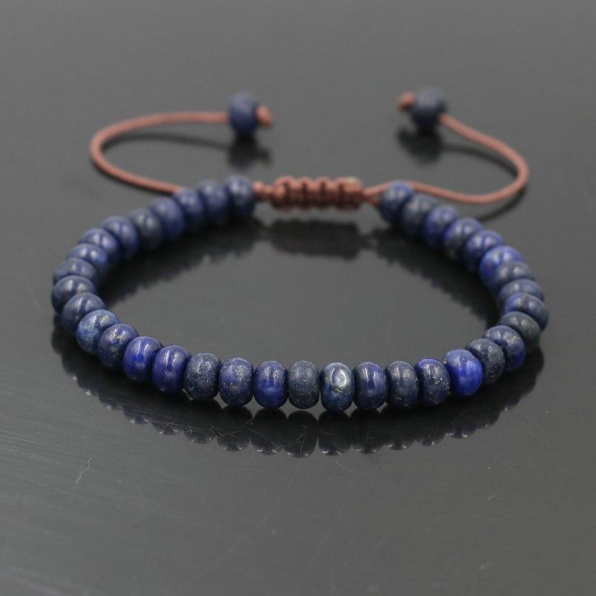 Minimalismo lapis lazuli natural pulseira de pedra dos homens pulseira de contas jóias para mulheres meninas sorte casais chakra pulseira presente