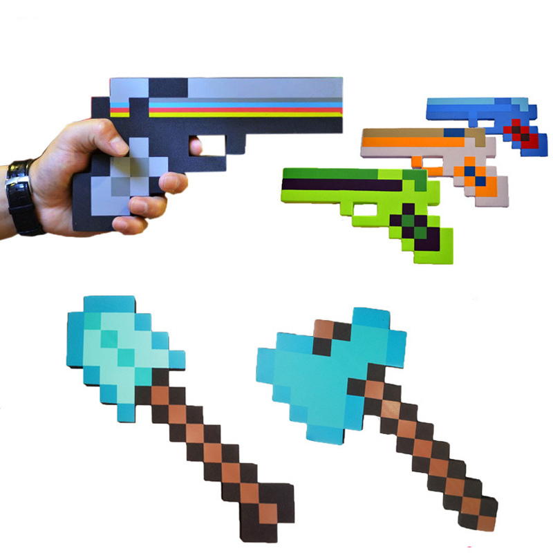 Toys Sword Pickax EVA Toys Foam Diamond Weapons Model Brinquedos For Kids Gifts Minecraft Gun Guft