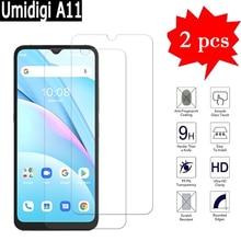 2 1Pcs Cover Voor Umidigi A11 Glas Screen Bescherming Film Op Umi A11 Een 11 9H Premium telefoon Explosieveilige Gehard Glas