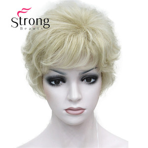 Image 4 - StrongBeauty Womens Wigs Fluffy Naturally Curly Short Synthetic Hair Full Wig 11 Color