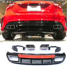 For Mercedes Benz W176 Hatchback 4 Door 13-18 A45 AMG A180 A200 Rear Diffuser Lip Spoiler With Exhaust (Sports version only)