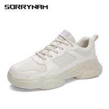 купить Sorrynam Stylish Designer Casual Shoes Men Sneakers Black White Walking Footwear Breathable Mesh Sneakers Men Shoes по цене 1498.02 рублей