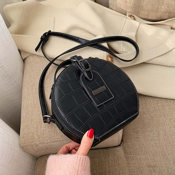 sleeper w401 2019 new women s lace fresh handbag cross body bag solid color small round bag сумка женская daily free shipping Fashion small round bag 2019 winter new cross-body bag stone pattern small handbag shoulder zipper handbag mobile phone bag
